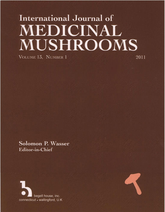 Umschlag der Internationalen Zeitschrift für Heilpilze (International Journal of Medicinal Mushrooms)