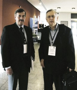 Jan Lelley, the organizer of the 6th International Conference on Mushroom Biology and Mushroom Products in Bonn, 2008 with dr. Ivan Jakopovich.