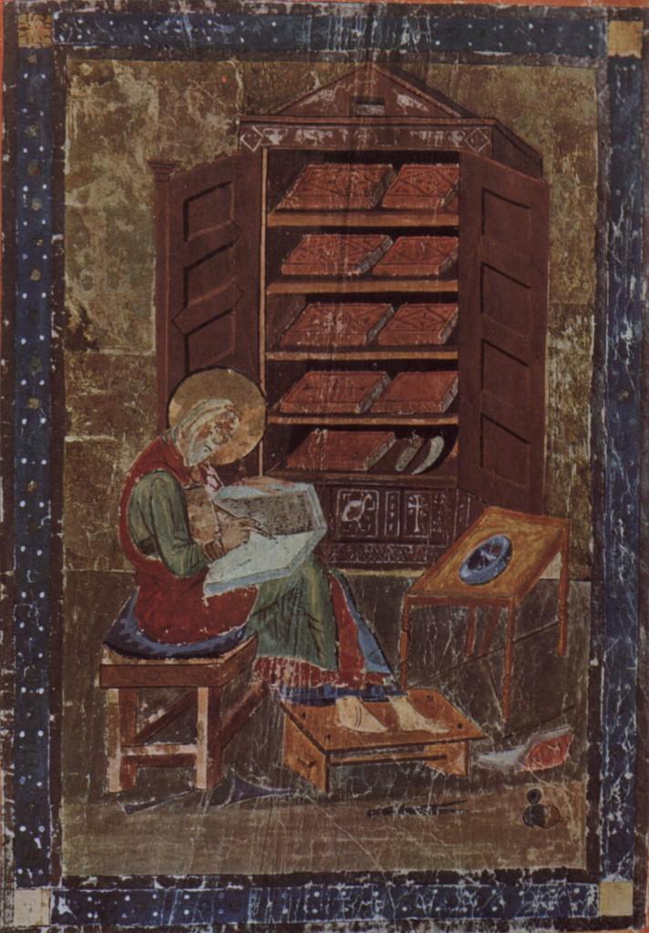 medieval scriptorium where books were copied